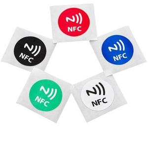 Round 25mm Circle NFC Tags label Sticker 13.56MHz rfid tag for mobile phone