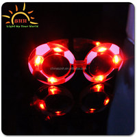hot sell item,for world cup,important event,fashion design,Flashing LED sunglasses with high quality