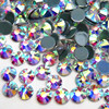 the most shiny loose flat back rhinestone hot fix professional supplier 16 cutting facets ss20 ab crystal with 8 big and 8 small