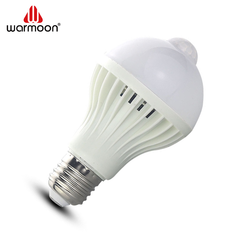 Cheap price 5w, 7w, 9w Induction LED <strong>bulb</strong>,PIR Motion sensor led light E27 E26 PIR with CE ROHS