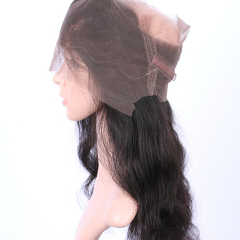 wholesale peruvian Virgin Unprocessed Human Hair 360 Lace Frontal Closure Body Wave With Baby hair for black women