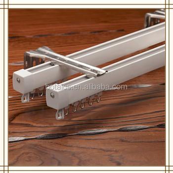 fijar en techo o pared correderas de aluminio accesorios para pista de la cortina