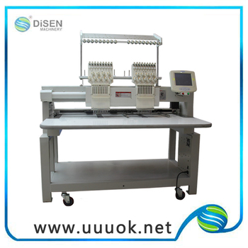 998f8569a10 2 Head Cap T-shirt Hat Computerized Bed Sheet Embroidery Machine ...