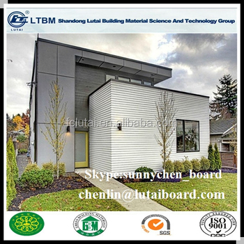 9Mm Grain De Bois Extérieur En Fiber-Ciment Bardage Extérieur