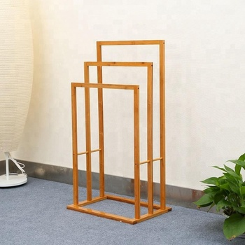 3 Tier Free Standing Wooden Bamboo