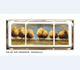 Home decor Tree 3pcs painting shadow box frame metal art for wall
