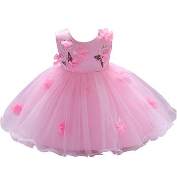 3e948df110 Venda quente de Verão Vestidos Da Menina Do Bebê de 1 Ano Imagem Pequena  Crianças Moda