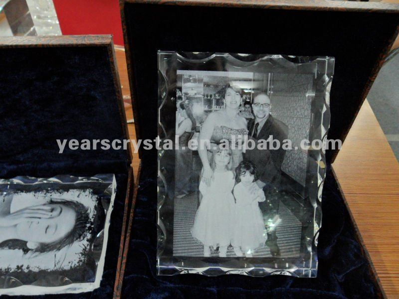 pure crystal 3d laser engraved for family gift (R-0145)