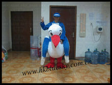 2013 high quality goose rider mascot costume