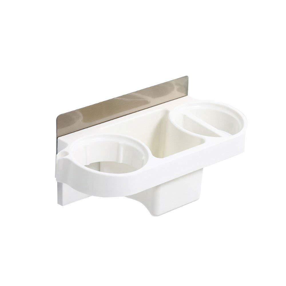 TOPmountain Bath Holder Organiser 1 pcs Modern Bathroom Storage Shower Basket Hair Dryer Storage Organizer Rack Holder Bathroom Wall Hair Dryer Holder