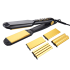 Dual Voltage Professional 4 in 1 Hair Straightener with Aluminum Plate Ceramic coating