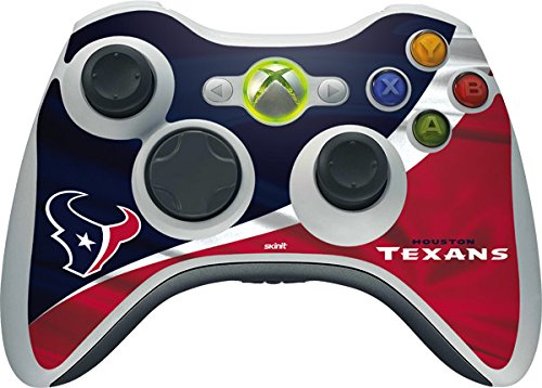 NFL Houston Texans Xbox 360 Wireless Controller Skin - Houston Texans Vinyl Decal Skin For Your Xbox 360 Wireless Controller