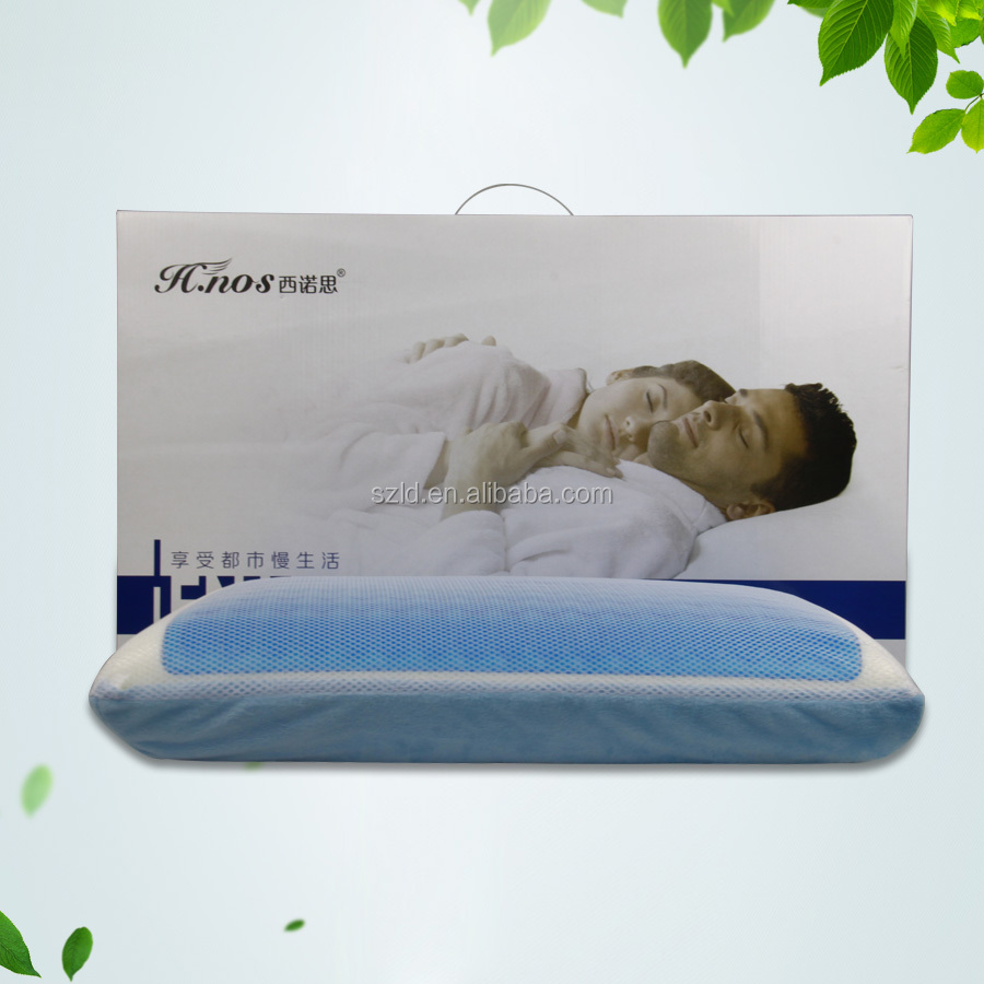 Breathable Memory Foam to Promote Airflow Head Rest Cooling Aqua Gel Pillow