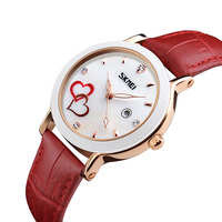 Branded Watches Ladies Perfect Quartz Japan Movement Leather Strap Wrist Watch