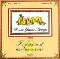 La Bella 10PH Pro High Tension Silver Classical Guitar Strings