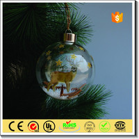 wholesale christmas Clear glass ball with photo insert inside decoration