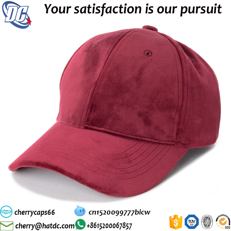 trendy baseball cap adjust unisex wholesale velvet caps 2017 fashion uk