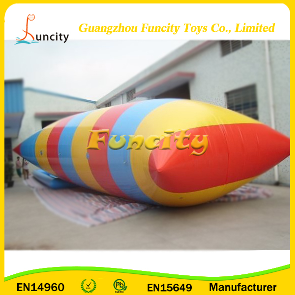 Made In China Summer Lake Games Inflatable Water Catapult Blob, Blob Water Pillow Launcher, Human Water Catapult