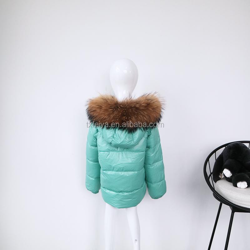 2dc90f515 Winter Baby Puffer Jacket With Big Raccoon Fur Trim Kids Down Jacket ...