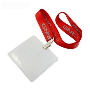 Wholesale Custom Polyester Silk Screen Printing Lanyard With Id Badge Holder