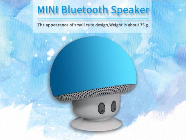 MIDU M-B3 Portable Mini Wireless Bluetooth Speaker Silicone Suction Cup Mushroom Audio Speaker