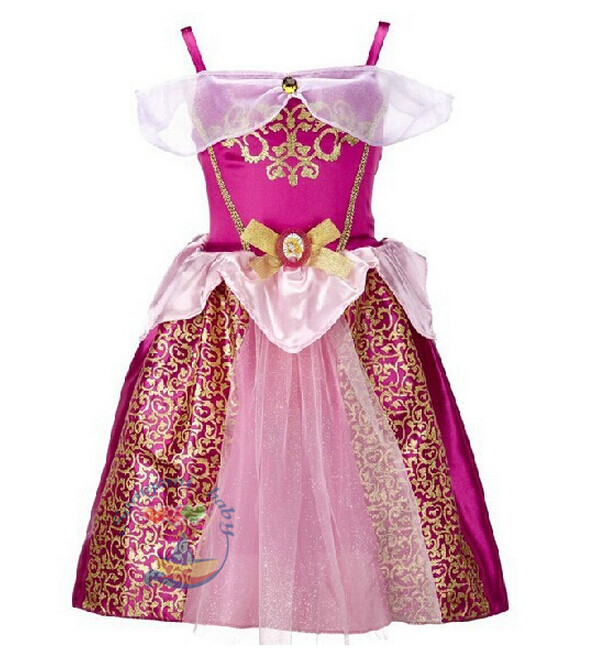 Kids girls Cosplay Costume Sleeping Princess Party Performances font b Dress b font Girl Movie cosplay