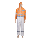 Microgard 3-Thread Overlock White Seam Taped Microporous SMS Chemical Protection Disposable Type 5/6 coverall