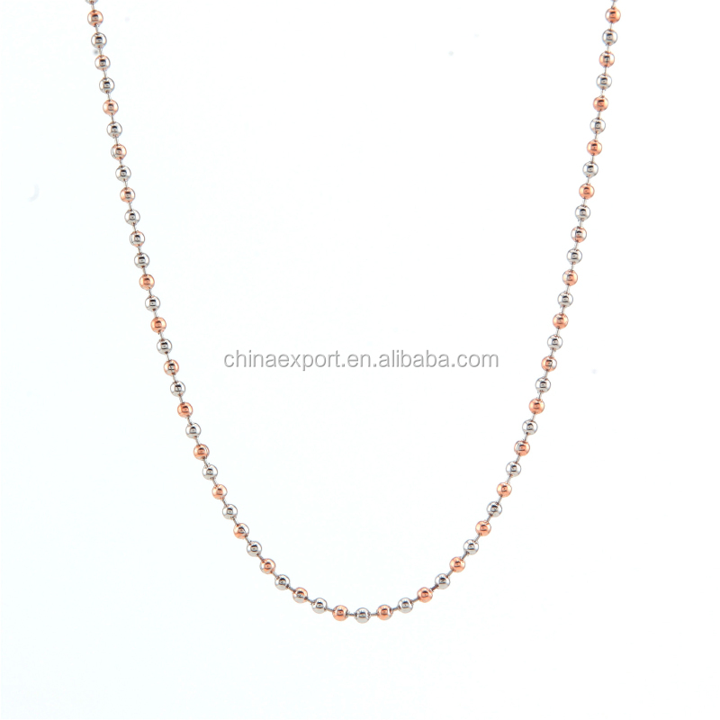 Newest Crystal Connector Rolo Gold Chain Necklace