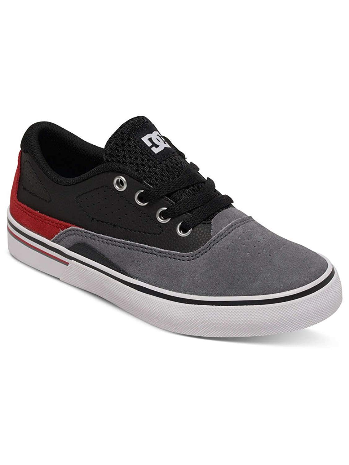 aee594538e1d2 Get Quotations · DC Boys Sultan Skate Shoe in Grey Black Red UK 5 (Kids)