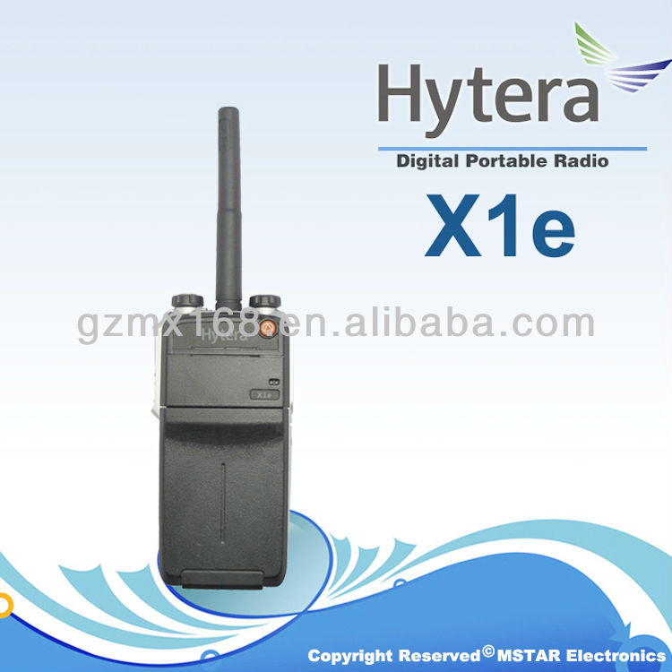 Ease of use Hytera X1e The world's thinnest & smallest full power digital portable radio