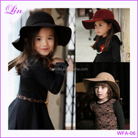 Free Shipping by DHL/FEDEX/SF Wide Brim Floppy children felt hat