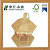 Handmade unfinished natural color hanged tree cheap wood bird houses for wood craft
