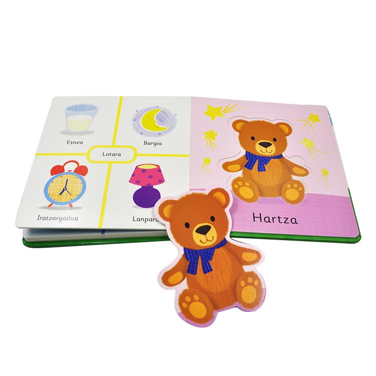 Custom Afdrukken Kinderen Karton Kids 3D Board Boek Engels Story Board Boeken Afdrukken Fabriek