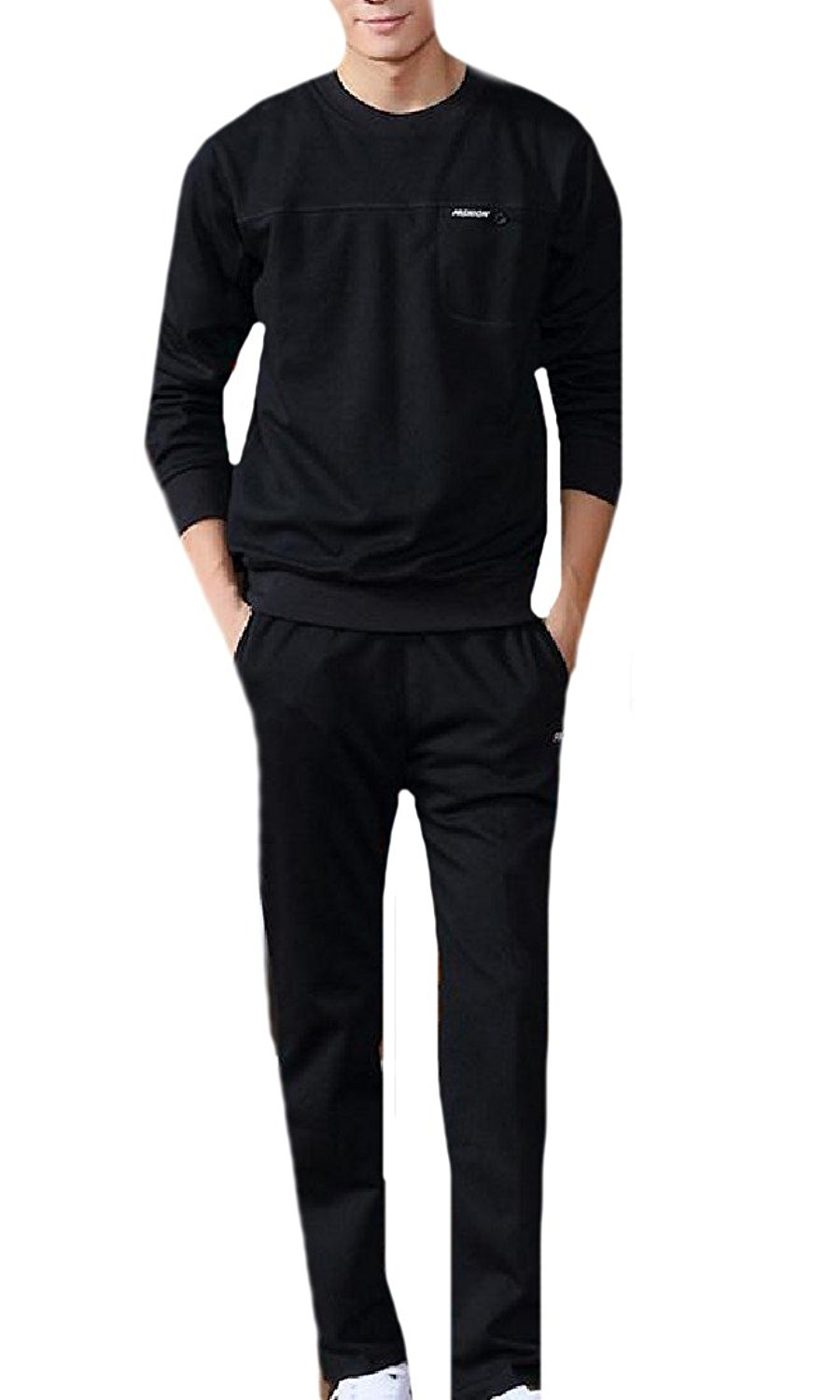 eccac567797 Get Quotations · Sexybaby Mens O-Neck Active Pullover Tracksuit Bottoms  Tracksuit Set