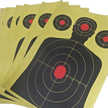 Reactive Splatter Glow Gun Rifle Shooting Range Targets Shot