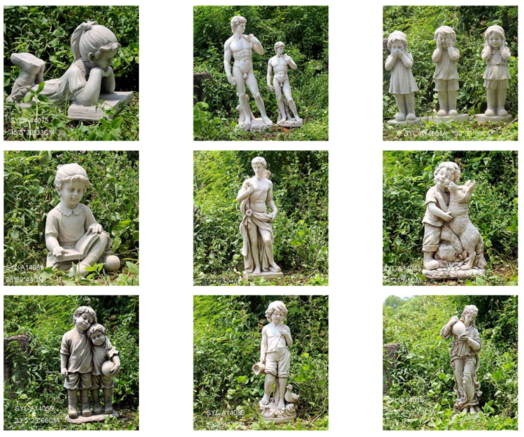 Polyresin boy and girl garden statue for sale
