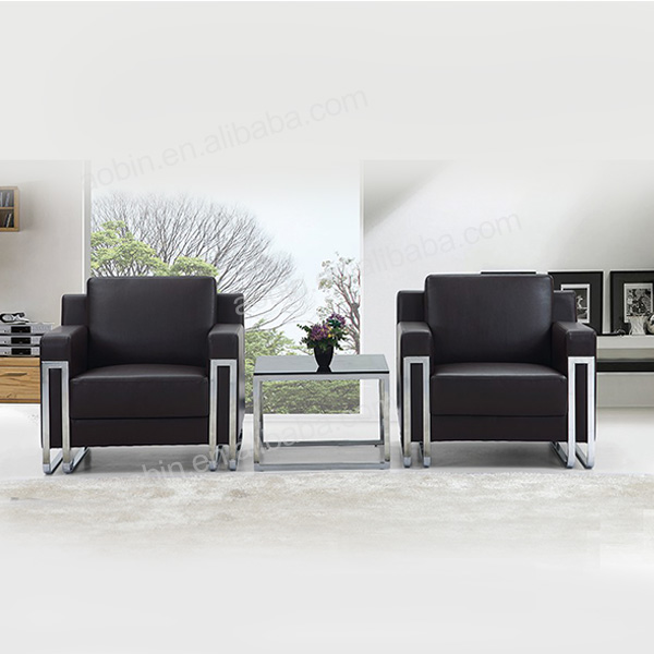 Stainless Steel Frame Pu Leather Office Sofa Set Buy Sofa Setleather Office Sofa Setmetal Leather Office Sofa Set Product On Alibabacom
