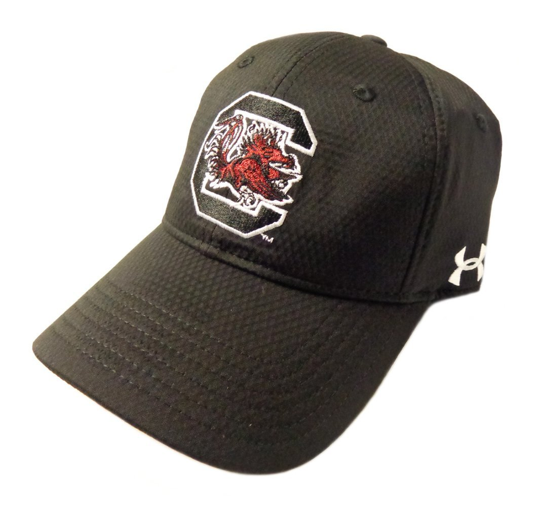 NEW Under Armour Heat Gear South Carolina Gamecocks Adjustable Black Golf Hat