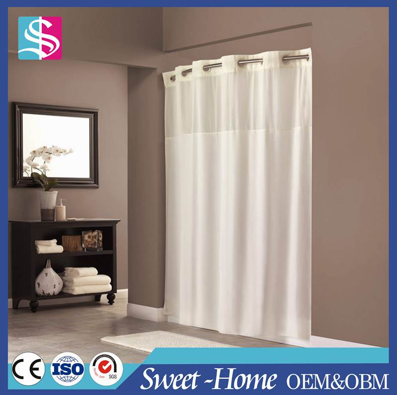 High Quality Hookless Hotel Shower Curtain