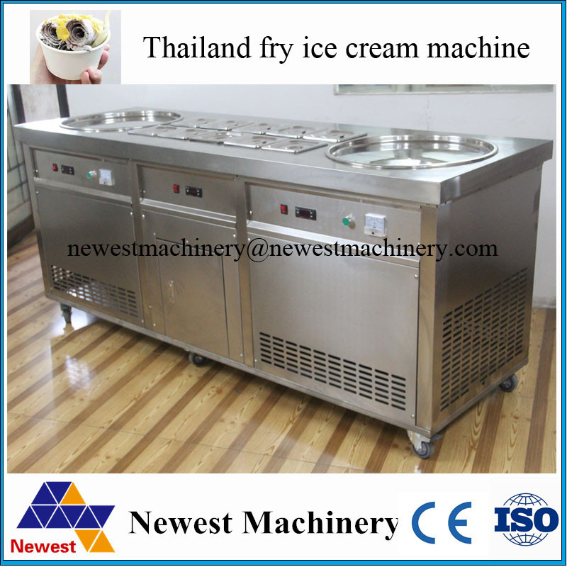 110/220V hot sale in US Market Ice cream roll maker machine,Fried Ice Cream Rolls Machine for sale