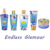 Bath and skin care set perfumed shower gel/ body cream/fragrance mist for beauty