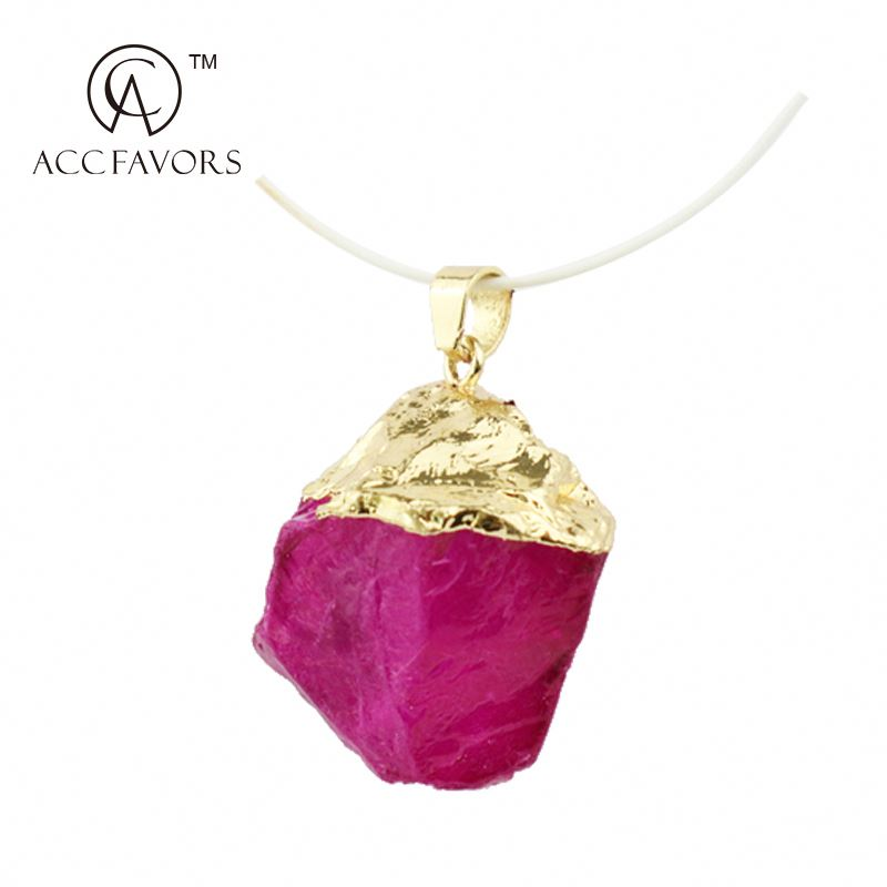 fashion big stone pendant jewelry from china supplier