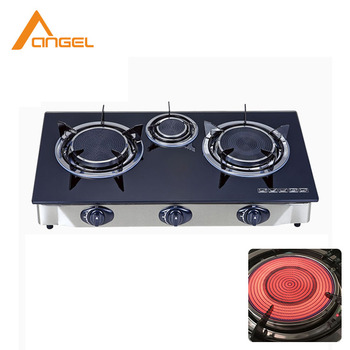 Marvelous Commercial Portable 3 Burner Gas Stove Green Portable Cook Glass Top Infrared Gas Oven Stove Buy Glass Top Gas Stove Portable Gas Oven Stove Green Interior Design Ideas Clesiryabchikinfo