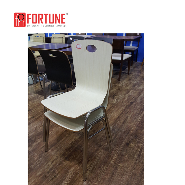 Designer Fast Food Restaurant Upholstery Dining Room Stacking Chair For  Sale(FOH SBC02)