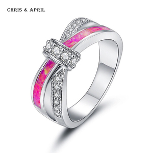 Fantastic opal 925 Italian silver finger rings for ladies