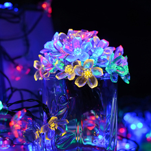 Solar String Lights, 21ft 50 LED Fairy Blossom Flower Garden Lights for Outdoor, Home, Lawn, Wedding, Patio, Party and Holiday