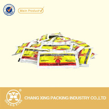 Printed plastic small packet hot sauce packaging sachet bag