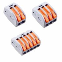 32A Universal Compact Wire Connectors electric terminal block 222-412/3/5 Lever Nut Wiring Connectors for juction box