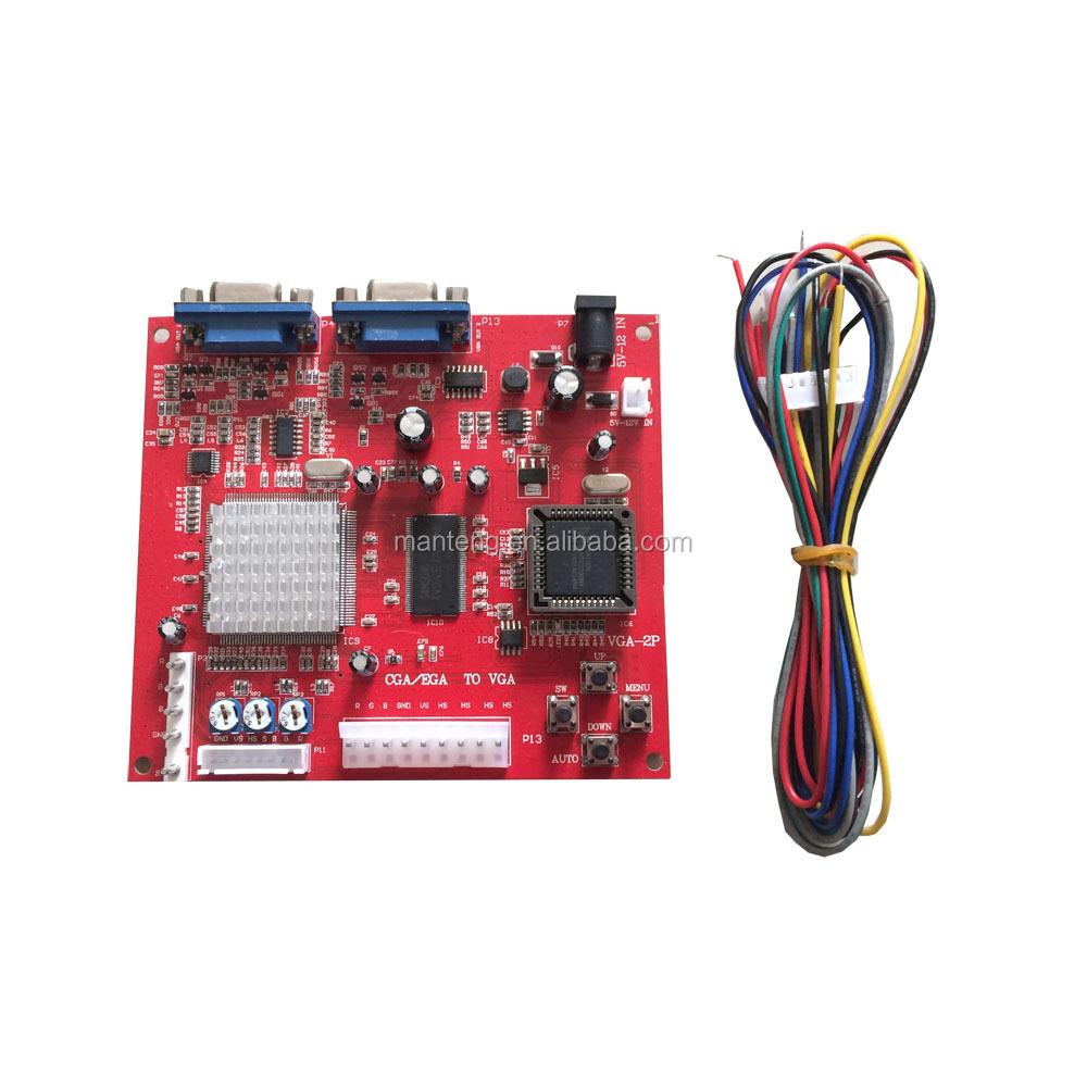 Cga/ega/yuv To Vga Converter Board For Pog Game Pcb