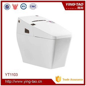 Professional design smart toilet with lady wash and auto cleaning function one piece toilet ceramic bathroom toilets for sale